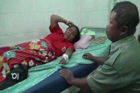 Pasutri asal Dukuh Jaten Wetan, Desa Kragilan, Mojosongo, Sutarni dan Sujadi, dirawat akibat terkena sengatan tawon, Foto diambil Senin (16/12/2019). (Solopos-Tamara Geraldine)