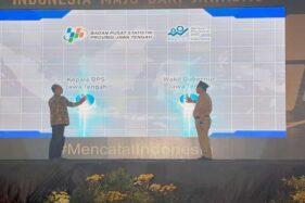 Wakil Gubernur Jawa Tengah, Taj Yasin (kanan), membuka rapat koordinasi daerah (Rakorda) Persiapan Sensus Penduduk 2020 di Hotel Best Western Premier, Solo Baru, Sukoharjo, Senin (9/12/2019). (Solopos-Bony Eko Wicaksono)