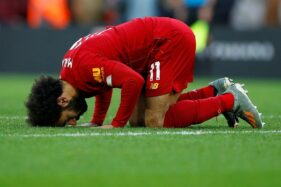 Pemain Liverpool, Mohamed Salah. (Reuters-Phil Noble)