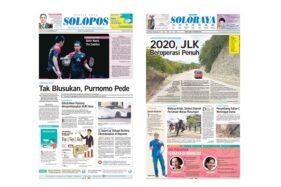 Harian Umum Solopos edisi Senin (16/11/2019).