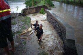 Tanggul Sungai Jebol Bikin Sawah Di Cawas Klaten Mirip Danau