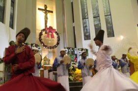 Tari Sufi dan Rebana Dalam Misa Natal Gereja Katolik Malang