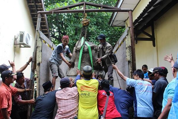 Sempat Dipindah, Arca Ganesha Dikembalikan ke Dukuh Majenang Sragen Gegara Kejadian Mistis