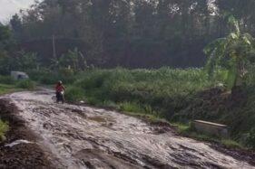 Foto Viral Jalan Kacangan-Nogosari Boyolali Rusak Bisa Buat Off Road