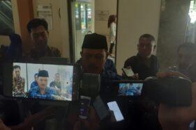 Wali Kota Madiun Maidi saat memberikan keterangan kepada wartawan di Wisma Haji Kota Madiun, Selasa (21/1/2020). (Abdul Jalil/Madiunpos.com)