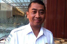 Kepala Kelompok Teknisi BMKG Stasiun Meteorologi Tunggul Wulung Cilacap Teguh Wardoyo. (Antara-Sumarwoto)