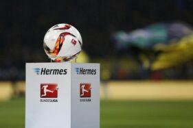Logo dan bola Bundesliga. (Reuters)