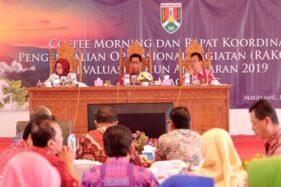 Rapat Koordinasi Pengendalian Operasional Kegiatan Triwulan I Tahun Anggaran 2019 Pemkot Magelang di Gedung Wanita Kota Magelang, Jateng, Kamis (16/1/2020). (Antara-Bagian Prokompim Pemkot Magelang)