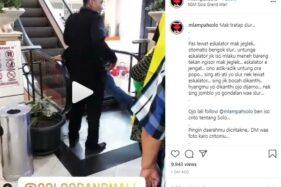 Video tentang eskalator SGM Solo yang viral di media sosial. (Instagram @mlampahsolo)