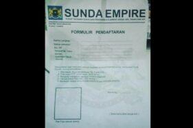 Inikah Formulir Pendaftaran Sunda Empire? Setor Rp5 Juta & Foto 200 Lembar