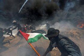 Ilustrasi konflik antara Palestina dan Israel. (Reuters-Ibraheem Abu Mustafa)