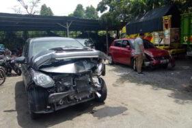 Kecelakaan Karambol di Jalan Jogja-Solo, 4 Mobil dan 2 Truk Ringsek