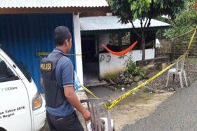 Lokasi ledakan bom tas di Seluma, Bengkulu, Sabtu (11/1/2020). (Bisnis.com/Istimewa)