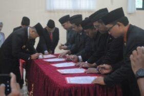Pelantikan sejumlah pejabat Pemkab Wonogiri di Grha Personalia Badan Kepegawaian Daerah (BKD) Wonogiri, Kamis (23/1/2020). (Istimewa/Setda Wonogiri)