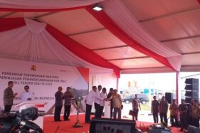 Acara peresmian Terowongan Nanjung di Kecamatan Margaasih, Kabupaten Bandung, Jawa Barat (Jabar), Rabu (29/1/2020) pagi. (Detik.com)