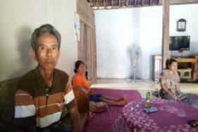 Toto Miharjo, 59, warga Sumber, Bentak, Sidoharjo, Sragen, menceritakan kasus pembacokan yang dialami anaknya saat mengantar penumpang ke Magelang. Foto diambil Selasa (28/1/2020). (Solopos/Moh. Khodiq Duhri)