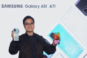 IM Product Marketing Manager Samsung Electronics Indonesia, Irfan Rinaldi, memperkenalkan Samsung Galaxy A51 dan Galaxy A71. (Istimewa)