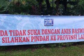 Viral Spanduk Pendukung Anies Baswedan: Tak Betah? Silakan Tinggalkan Jakarta