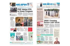 Harian Umum Solopos edisi Jumat (17/1/2020).