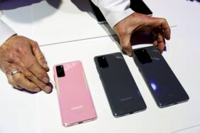 Perkenalan Samsung Galaxy S20, S20+ and S20 Ultra di Unpacked 2020, San Francisco, California, Amerika Serikat 11 Februari 2020. (Reuters/Stephen Lam)