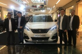 Peluncuran New Peugeot 3008 SUV Allure Plus dan 5008 SUV Allure Plus di The Park Mall, Kamis (13/2/2020). (Solopos/Farida Trisnaningtyas)