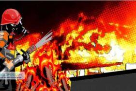Gudang Kayu di Cemani Sukoharjo Terbakar