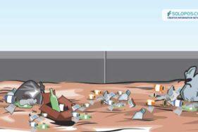 Banyak Sampah Nyangkut di Tiang Penyangga Jembatan, BPBD Sukoharjo Lakukan Ini