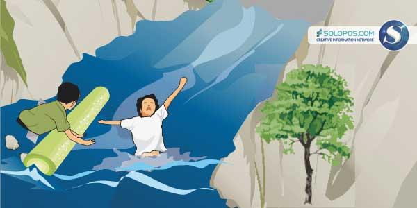 Ilustrasi Hanyut (Solopos/Whisnupaksa)