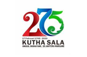 Logo HUT ke-275 Kota Solo. (Pariwisatasolo.surakarta.go.id)
