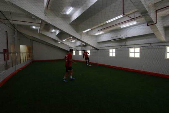 Salah satu fasilitas ruang pemanasan Stadion Manahan Solo. (Nicolous Irawan/Solopos)
