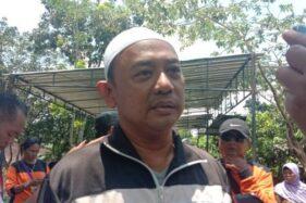 Prasetyo Budi, ayah Zahra Imelda, siswi SMPN 1 Turi Sleman yang meninggal di Sungai Sempor. (Suara,com)
