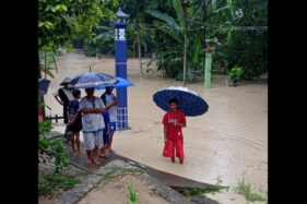 Dusun Jambeyan, Desa Ngleses, Juwangi, Boyolali, banjir akibat hujan deras, Selasa (18/2/2020). (Istimewa/Tagana Juwangi)Dusun Jambeyan, Desa Ngleses, Juwangi, Boyolali, banjir akibat hujan deras, Selasa (18/2/2020). (Istimewa/Tagana Juwangi)