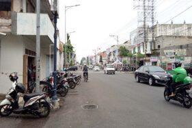 Sisi utara ruas Jl. Sunan Kudus yang bakal dijadikan kawasan city walk. (Murianesws-Anggara Jiwandhana)