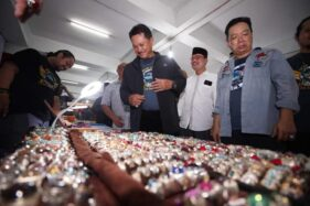 Wali Kota Madiun, Maidi, saat membuka Festival Mulia Nusantara yang berlangsung di Pasar Besar Madiun, 17-19 Januari 2020. (Istimewa-Pemkot Madiun)