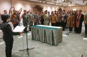 Pelantikan 25 Panitia Pemilihan Kecamatan (PPK) Pilkada Solo di Sahid Jaya Hotel, Sabtu (29/2/2020). (Solopos-Ichsan Kholif Rahman)