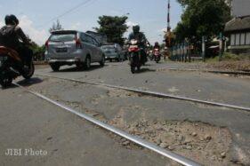 Perlintasan Pasar Nongko Solo. (Solopos/Dok)