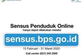 Sensus Penduduk Online. (www.bps.go.id)