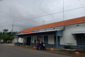 Stasiun KA Wonogiri di Kelurahan Giripurwo, Wonogiri, Senin (24/2/2020). (Solopos/M. Aris Munandar)