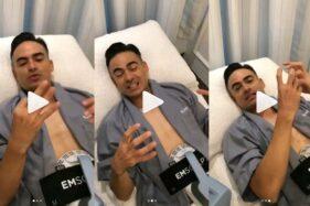 Ashraf Sinclair memperlihatkan terapi Emsclupt. (Istimewa/Instagram)