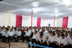 Peserta bersiap mengikuti tes CPNS di Auditorium UNS Solo, Senin (3/2/2020). (Solopos/Wahyu Prakoso)