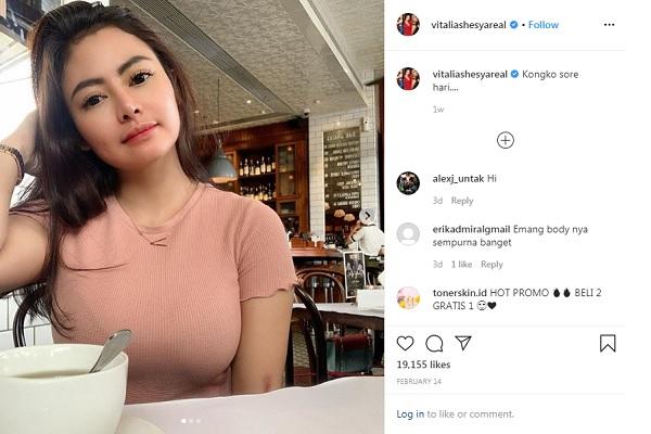 Vitalia Sesha Ditangkap Bersama Laki-Laki di Apartemen
