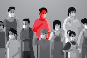 Ilustrasi orang memakai masker. (Freepik)