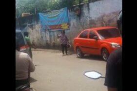 Seorang perempuan positif corona diamankan di Tebet, Jakarta Selatan. (Istimewa)