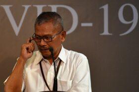 Juru bicara pemerintah untuk penanganan COVID-19 Achmad Yurianto memberikan keterangan pers. (Antara/Sigid Kurniawan)