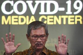 Sekretaris Direktorat Jenderal Pencegahan dan Pengendalian Penyakit Kemenkes Achmad Yurianto yang juga juru bicara pemerintah untuk penanganan virus Corona. (Antara/Hafidz Mubarak A)