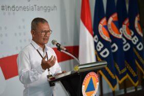 Juru Bicara Pemerintah untuk Penanganan Covid-19 Achmad Yurianto memberikan keterangan pers di Graha BNPB, Jakarta. (Antara/Aditya Pradana Putra)
