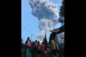 Warga Sidorejo Klaten Nonbar Erupsi Gunung Merapi