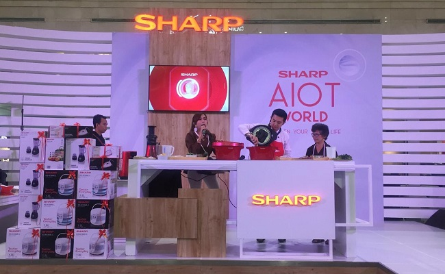 Shartp AIoT World di Atrium Utama, Plaza Ambarrukmo, Jogja, 5-8 Maret 2020. (Istimewa/Sharp Indonesia)
