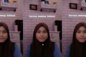 Viral video Tiktok Corona Karlota. (Istimewa)