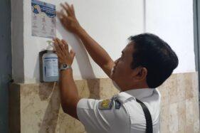PT KAI Daop VII Madiun Sediakan Hand Sanitizer di Stasiun